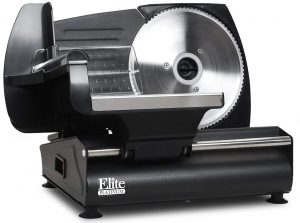 Elite Gourmet EMT-503B electric food slicer