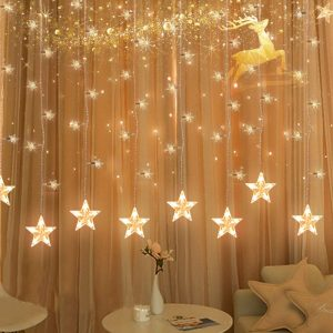 12 Big Stars curtain string lights by YoyoKit