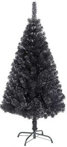 4ft Black Christmas tree by Shatchi