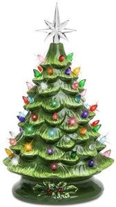 Best Choice Products 15 inch ceramic Christmas tree