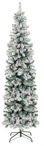 Best Choice Products 7.5ft snow flocked artificial pencil Christmas tree