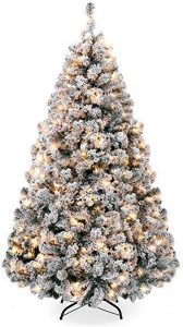 Best Choice products 6ft pre-lit snow flocked artificial Christmas pine tree