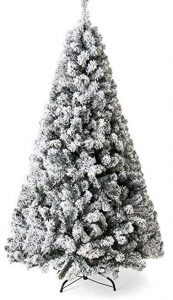 Best Chose Products 7.5ft premium snow flocked Christmas pine tree