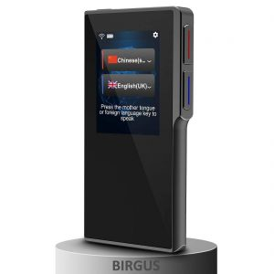 Birgus Smart Voice Translator Device with 2.4 Inch High Definition Toch Screen Support
