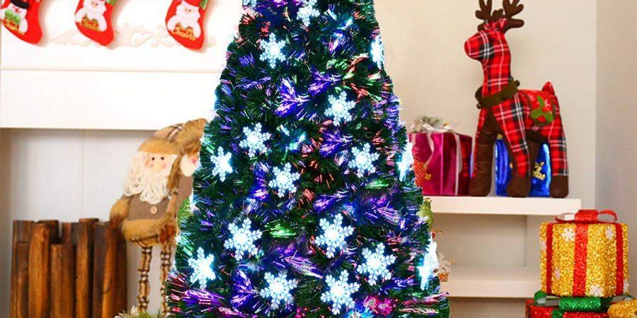 Christmas Tree  7ft Pre-lit Fiber Optic Artificial 280 UL