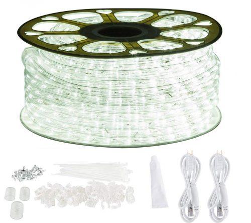 GuoTonG 131.2ft Plugin Rope Lights, 1440 Daylight White LEDs