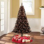 Holiday Time pre-lit 6.5ft Madison pine black artificial Christmas tree