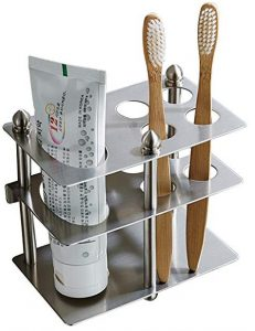 Mellewell Toothbrush holder, toothpaste organizer stand