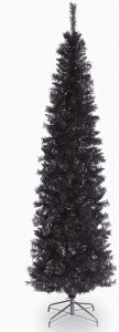 National Tree 6 Foot Black Tinsel Tree with Metal Stand