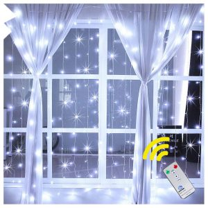Ollny window curtain light 192 LEDs Christmas lights