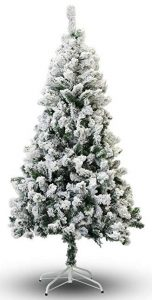 Perfect Holiday Christmas tree, snow flocked