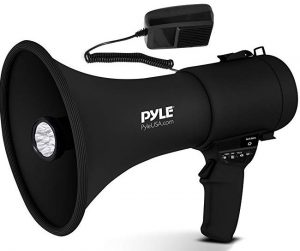 Pyle Portable Compact PA Megaphone Speaker with Alarm Siren & Adjustable Volume PMP561LTB