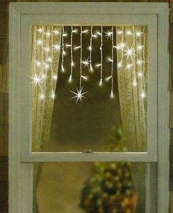 Sienna set of 50 twinkling & shimmering clear window lights