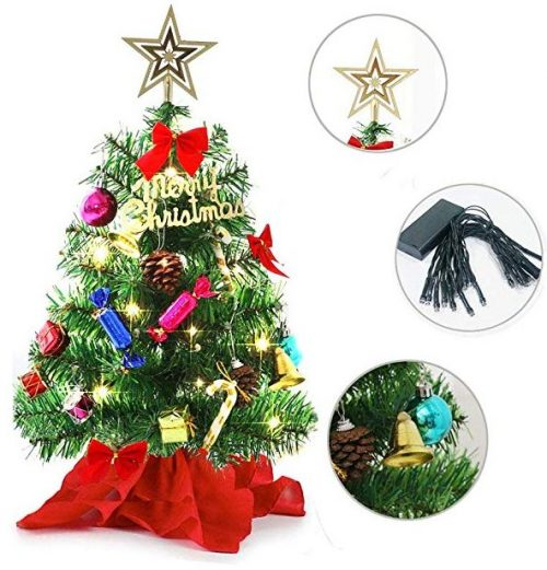 Tabletop mini Christmas tree, miniature pine tree by WesGen