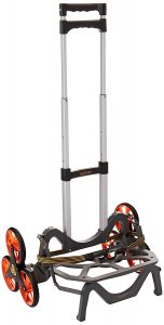 UpCart Bag dolly is a folding cart for lifting objects on the ground, up and down the stairs.