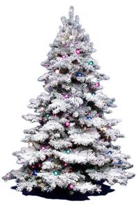 Vickerman 3ft flocked Christmas tree