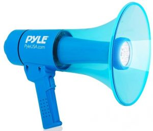 Waterproof Megaphone Bullhorn and Flashlight PMP67WLTB