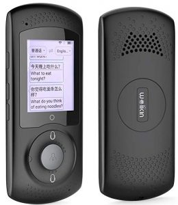 Weikin Portable language translator device