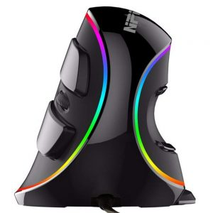 Ergonomic Vertical USB mouse with RGB backlit by NPET