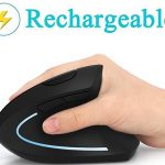 Ergonomic mouse, vertical wireless mouse by Lekvey