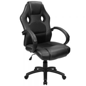 Furmax Office Chair Leather Desk Gaming Chair, High Back Ergonomic Adjustable Racing Chair