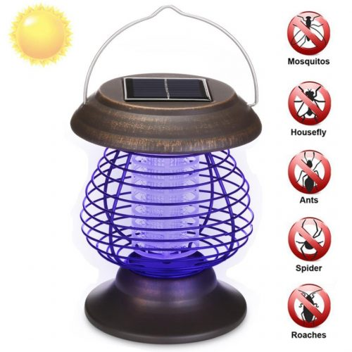 Inverlee Solar Powered Portable Electronic Mosquito Killer