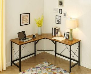 Mr IRONSTONE L-Shaped Desk Vintage Corner for Study, Writing & Working