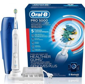 Oral-B Pro 5000 SmartSeries Power Rechargeable Electric Toothbrush with Bluetooth Connectivity
