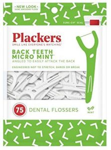 PLACKERS Right Angle Easy Flossing, Mint 75 ea by Plackers