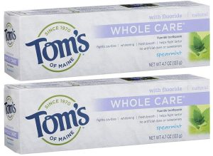 Tom's of Maine Whole Care Fluoride Toothpaste Spearmint