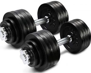 Yes4All Adjustable Dumbbells 60, 105 to 200 lbs | adjustable dumbbell set 200 lbs