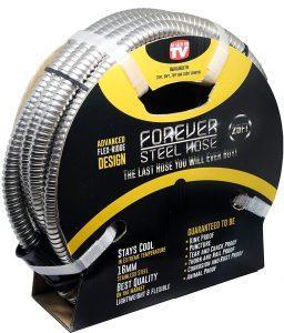 Forever Steel Hose 25ft metal garden hose