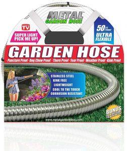 Harvest Trading Group Metal garden hose 50 ft