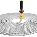 Touch-Rich stainless steel metal garden hose 50ft