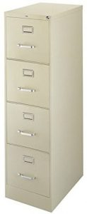 22 inches Deep 4-drawer Letter-size commercial vertical file