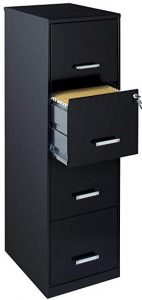 Space Solution 21618 18 inches 4-drawer metal file cabinet