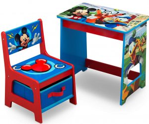 Delta Children Mickey Mouse kids wood desk and chair set