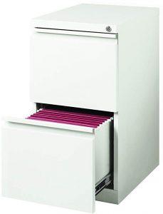 Hirsh 20 in deep 2-drawer mobile file cabinet