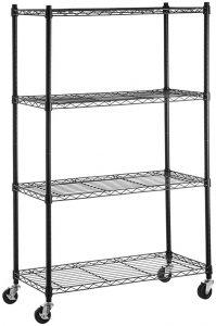 AmazonBasics 4-shelf shelving storage unit