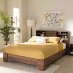 Baxton Studio two-tone queen size platform bed