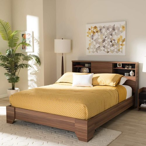 Baxton Studio two-tone queen size platform bed