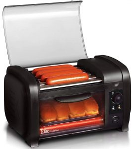 Elite Cuisine EHD-051B Hot Dog Toaster