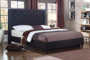 Home Life Premiere Classics cloth black linen bed