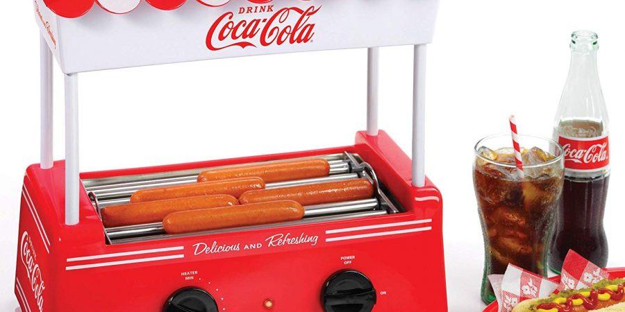 Nostalgia HDR565COKE Coca-cola hot dog roller