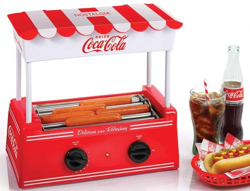 Nostalgia HDR565COKE Coca-cola hot dog roller