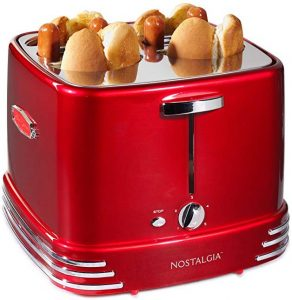 Nostalgia RHDT800RETRORED Fours Dogs & Buns