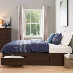 Prepac EBK-8400-K King Sonoma Platform storage Bed