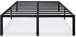 "PrimaSleep 18"" Ultimate Strength metal bed frame is strong and durable for your sound sleep."