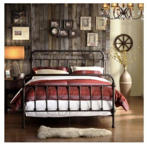 TRIBECCA Home Wrought Iron Bed Frame has a classic look with strong capacity to handle weight.