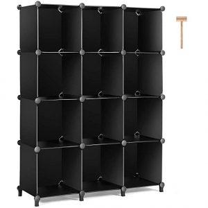 TomCare Cube Storage 12-cube bookshelf closet organizer storage shelf